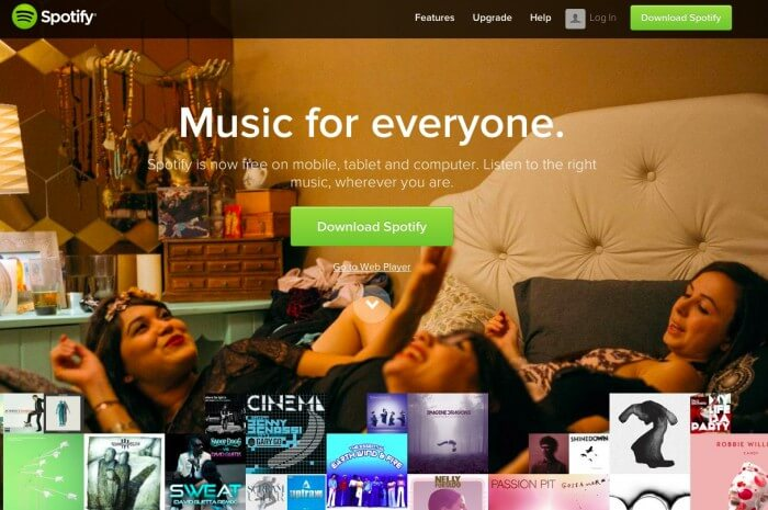 Spotify Parallax Website